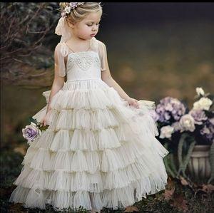 Dollcake white flower girl dress gown 3 or 5